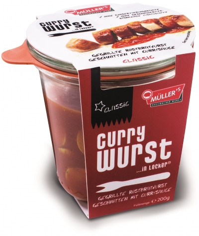 "Müller's ""Currywurst… in lecker"""
